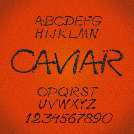 Tasty handwritten caligraphic decorative  alphabet Vector