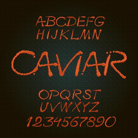 caligraphic: Delicious handwritten caligraphic decorative vector alphabet
