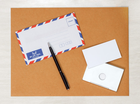 A set of blank envelopes different size and color view 2 stock photo 36893713 a set of blank envelopes business card and pen view 1 reheart Image collections
