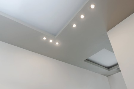 embedded: Modern layed ceiling with embedded lights, view 1