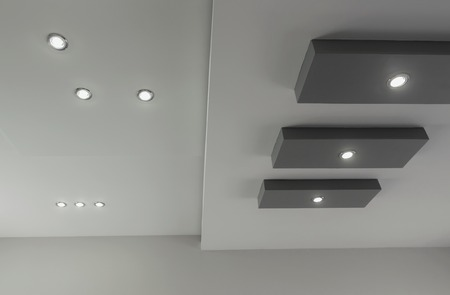 Modern layed ceiling with embedded lights, view 5