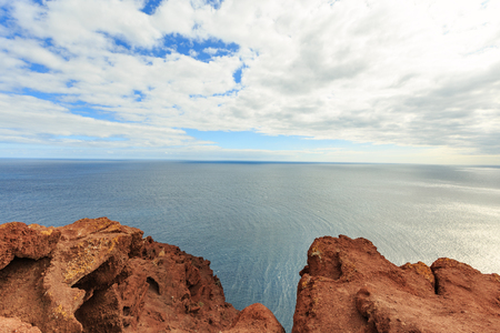 An ocean view from the top of Montana Roja, Tenerife, Spain
