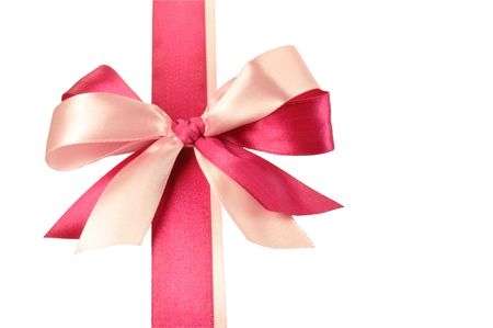 Bow made of Pink Ribbons photo