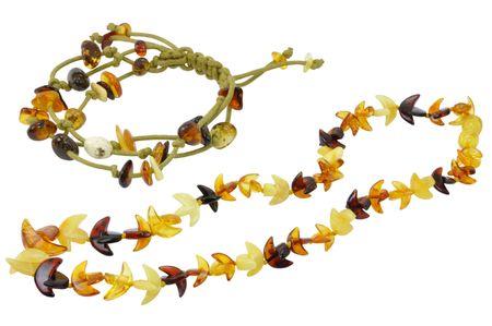 목걸이 및 절연 화이트 절연 자연 앰버로 만든 팔찌