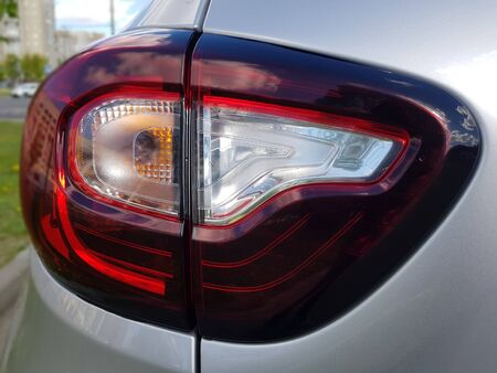 Close-up of the rear light in the car