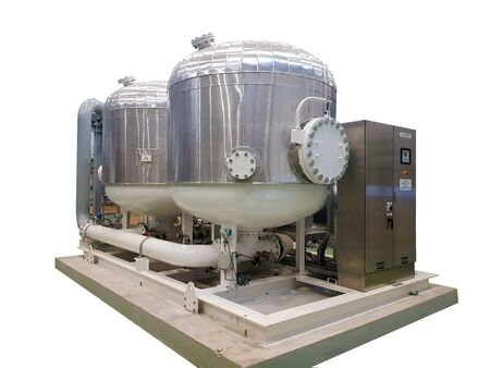 Compressed air spherical desiccant for removing moisture 版權商用圖片