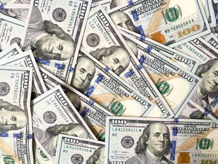 Background of hundred-dollar bills. The texture of hundred-dollar bills. A lot of dollars Standard-Bild