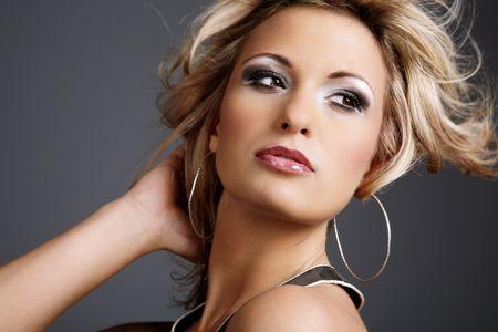 Portrait of beautiful young fashion model. Stock Photo - 4745917