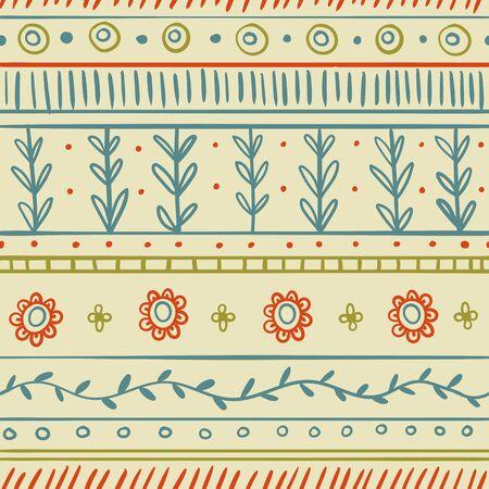 ethnic seamless pattern. ornamental decorative illustration. for textile, wallpaper office Çizim