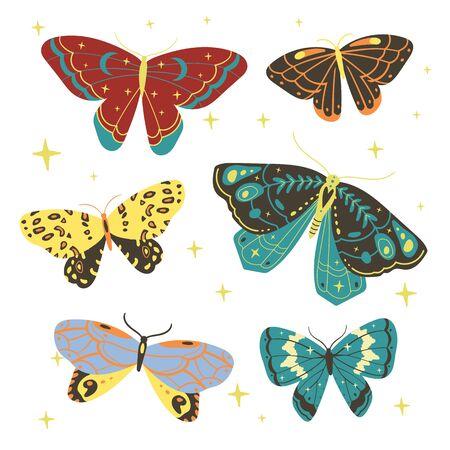 simple magic vintage illustration for textiles, office wallpaper design