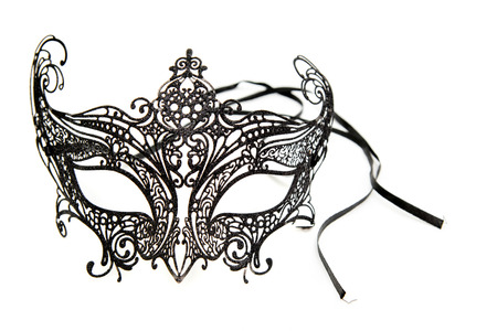 Carnaval holiday mask isolate on white background.