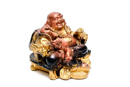 The figure of the Buddha statuette Asian religion.