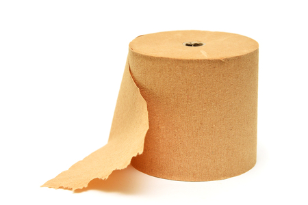 Toilet roll paper isolated Stock Photo