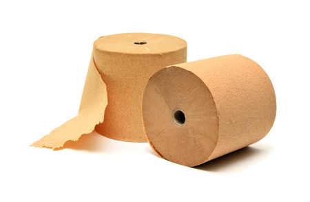 Set of two toilet roll paper isolated