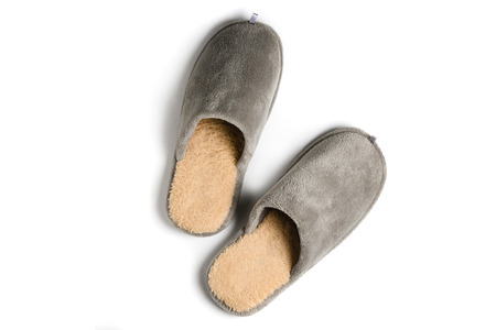 Male home slippers isolated