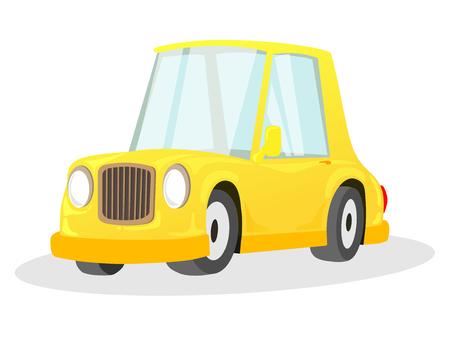 Cartoon yellow car vector illustration
