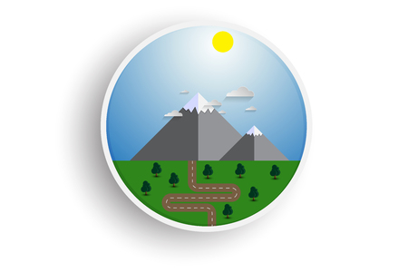 Mountains in flat style