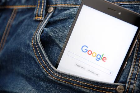 Google smart phone in pocket