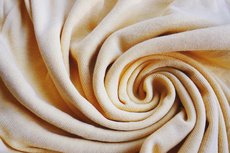 Fabric background clothes waves, spiral shape