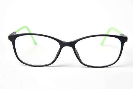 Black eye glasses, vision diagnostic problem