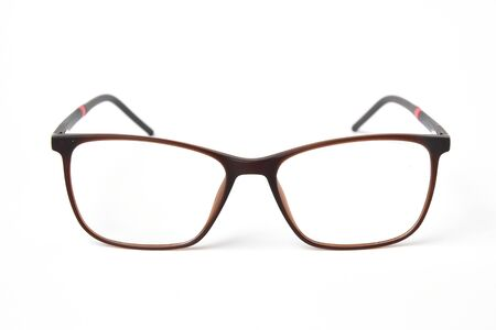 Eye Glasses on white background, vision care object.