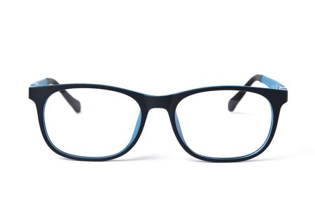 Glasses for child or kids blue color on white background
