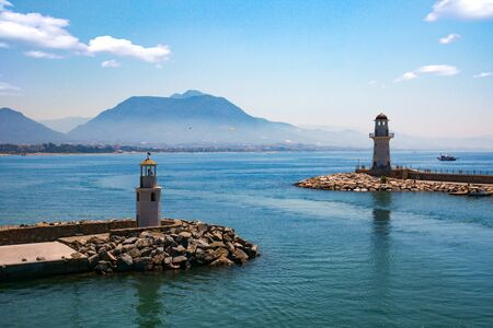 Turkey, Alanya Bay, view of the mountains. Seascape. Entrance to the bay. 写真素材