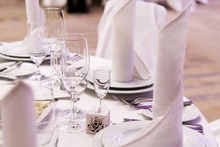 Restaurant luxury service element on table design Фото со стока