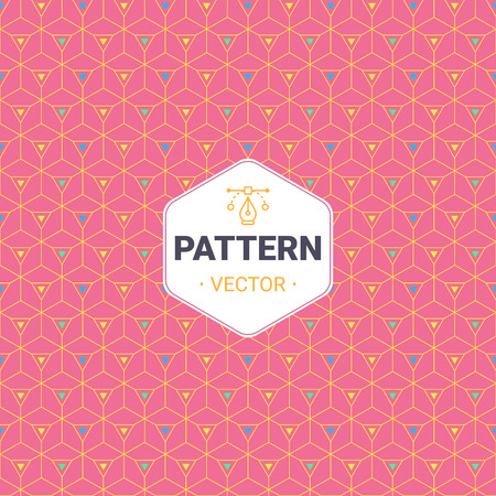 Completely seamless, abstract cube pattern. Colorful design, geometric 3d vector wallpaper, cube pattern background.