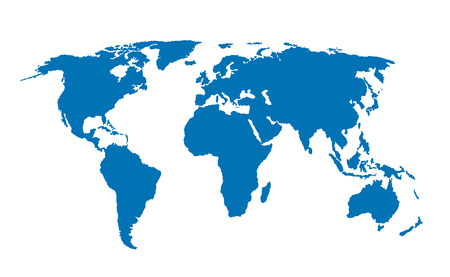World Map isolated vector illustration, vector illustration earth map Illustration
