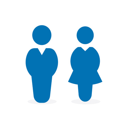 man and woman icon flat vector stock illustration isolated sign wc