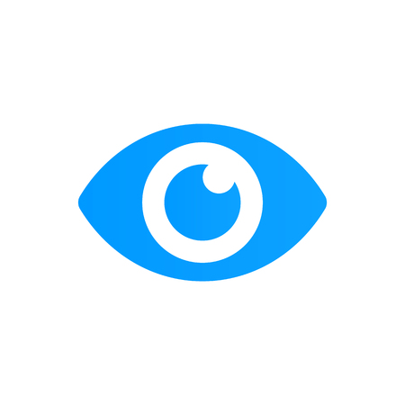 Blue eye icon vector. Look and Vision icon.