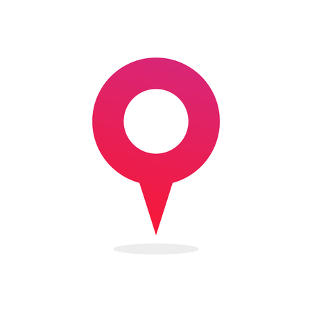 Pin map place location icon, Vector illustration with modern flat design on background for your location pin marker, pointer