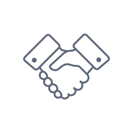 Handshake line icon. Partnership and agreement Illustration