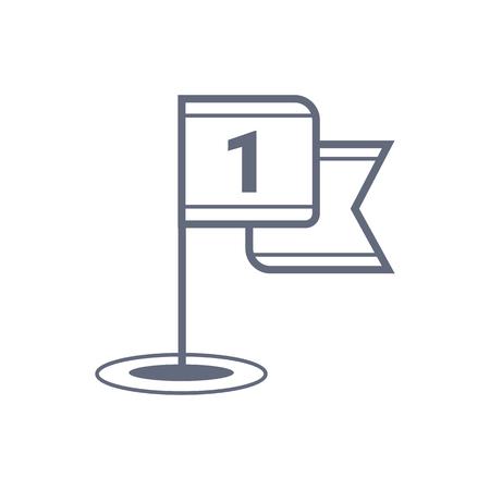 Golf flag vector icon, sports symbol. Modern, simple flat vector illustration for web site or mobile app Illusztráció