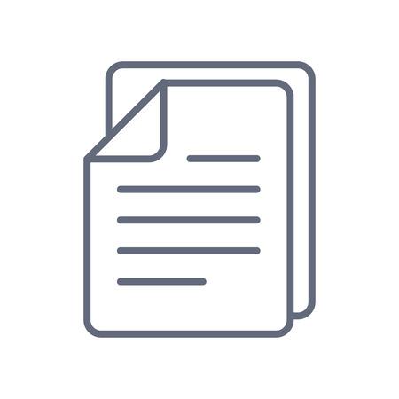Documents icon stock vector illustration flat design. Vector icon on white background Ilustração