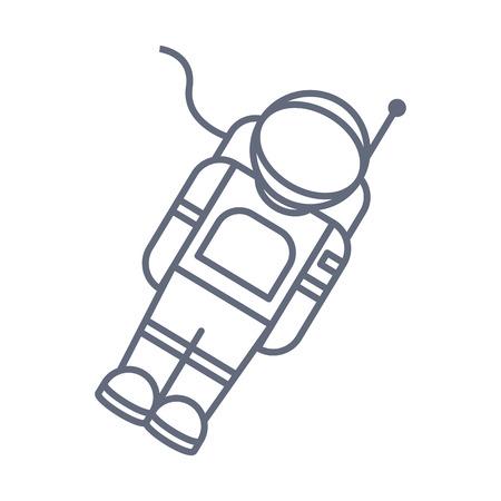 Astronauta en el icono del espacio. Elementos del icono de espacio. Diseño gráfico de primera calidad. Signos, colección de símbolos, icono simple para sitios web, diseño web Ilustración de vector