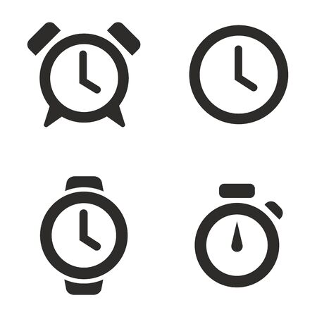 Time icon illustration, set of Clock symbol collection
