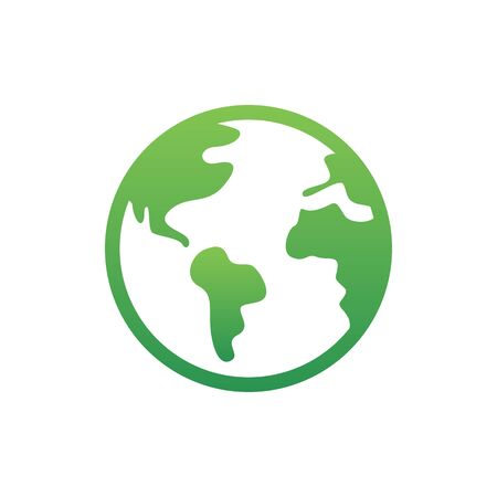 Earth Icon Vector. Simple flat symbol. Perfect Green pictogram illustration on white background.