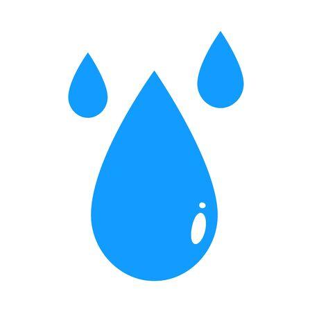 Black drop vector icon or rain icon isolated on white background Ilustracja