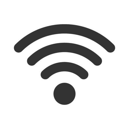 Wifi sign. Wifi symbol. Wireless Network icon. Wifi zone. Signal Ilustración de vector