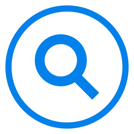 Magnifying glass or search icon, flat vector graphic on isolated background.