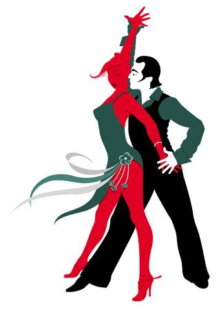 A couple dancing Latino dance Stock Vector - 23283482