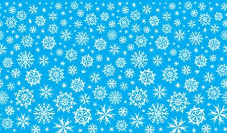 cliche: invierno de fondo azul con copos de nieve Vectores