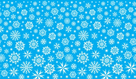 continuation: winter blue background with snowflakes