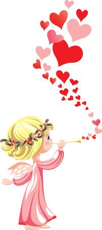 愛のメロディー パイプで遊んで、ピンクの天使