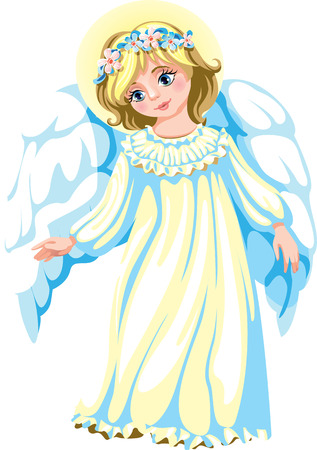 light kind angel in a long shirt Illustration