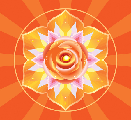 Mandala for meditation, a Svadhisthana concept design. Illustration