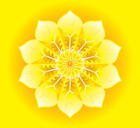 psyche: Mandala for meditation a manipura concept design.