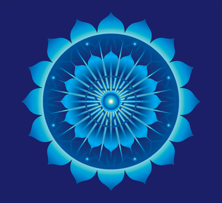 psyche: Mandala for meditation, a Vishudha concept design.